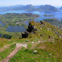 Close of the top of Ballstadheia - Lofoten